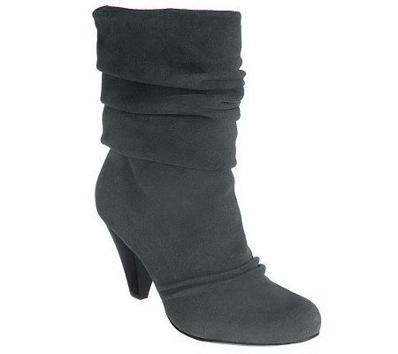 Jessica Simpson Suede Pull-on Round Toe Boots