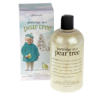 philosophy partridge in a pear tree white pear 3-in-1 gel 24oz