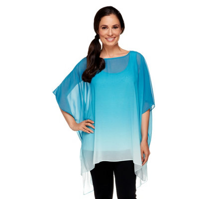Edge by Jen Rade Dip Dye Tunic with Shell Set