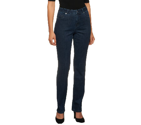 Isaac Mizrahi Live! Regular Icon Grace Straight Leg Jeans
