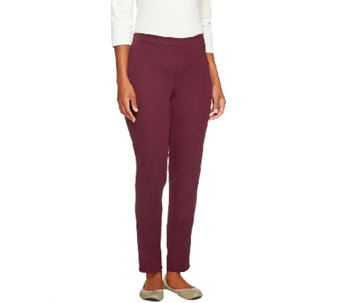 """As Is"" Isaac Mizrahi Live! Petite 24/7 Stretch Pull On Ankle Pants - A263975"
