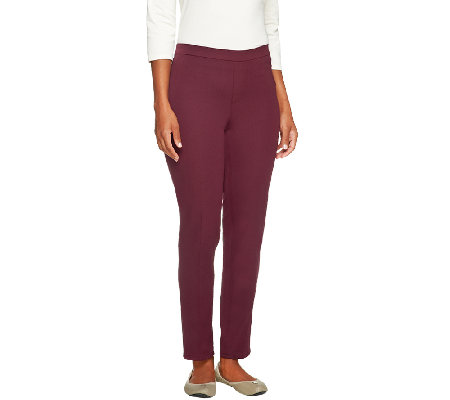 """As Is"" Isaac Mizrahi Live! Petite 24/7 Stretch Pull On Ankle Pants"