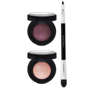 Laura Geller Baked Color Intense Shadow Duo w/ Shadow Brush - A264575