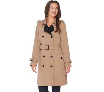 Linea by Louis Dell'Olio Double Breasted Trench Coat - A267875