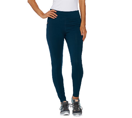 Denim & Co. Active Duo-Stretch Legging with Zip Pockets