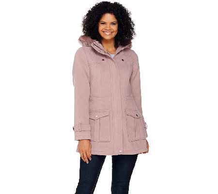Liz Claiborne New York Anorak with Quilting Details