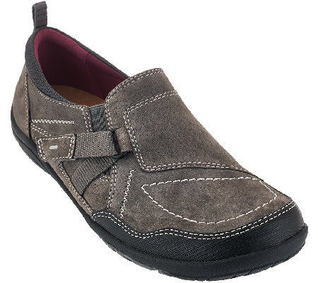 Earth Origins Leather Slip-on Sneakers - Allison
