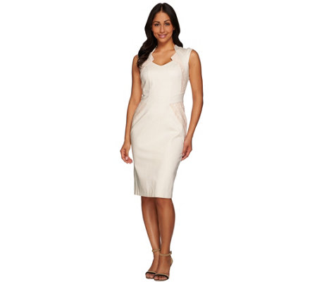 G.I.L.I. Regular Sleeveless Dress with Lace Insets