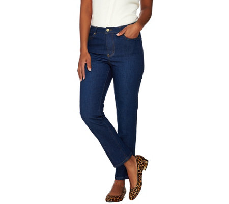 Isaac Mizrahi Live! TRUE DENIM Regular Ankle Jeans