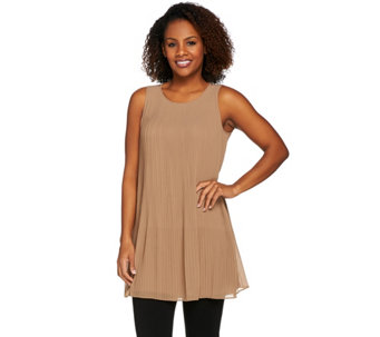 Attitudes by Renee Front Pleated Tank - A275075