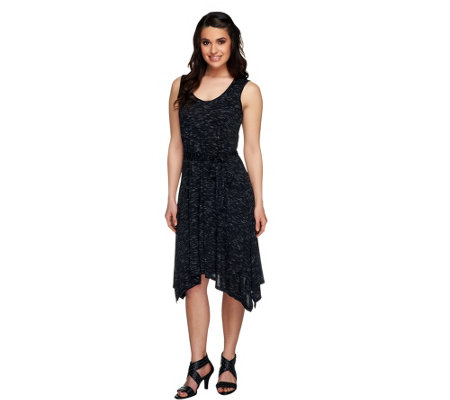"""As Is"" Lisa Rinna Collection Regular Angle Hem Tank Dress"