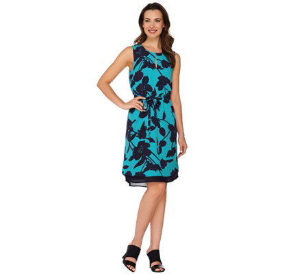 Kelly by Clinton Kelly Double Layer Dress with Belt