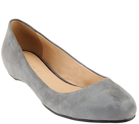 """As Is"" H by Halston Suede Slip-on Flats - Alice"
