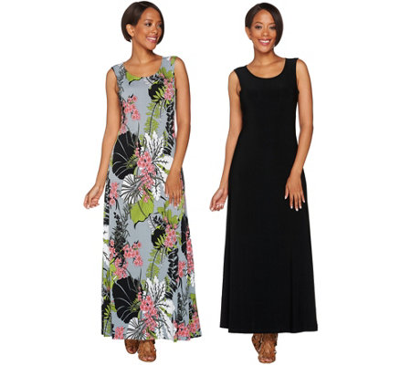 Attitudes by Renee Petite Set of Two Knit Dresses