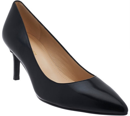 """As Is"" Marc Fisher Leather Pointed toe Mid-heel Pumps - Milee"
