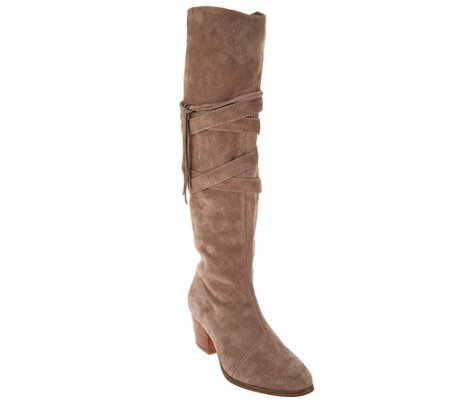 Sole Society Suede Tall Shaft Boots - Antoinette