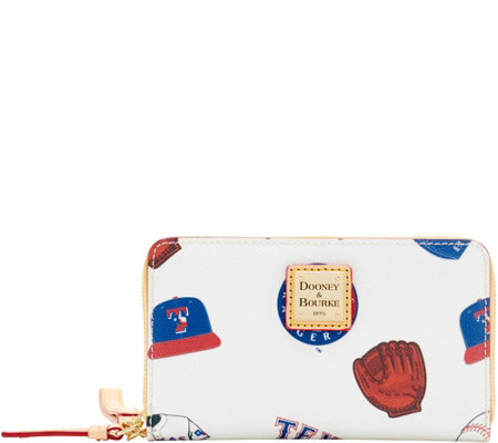 Dooney & Bourke MLB Rangers Zip Around Phone Wristlet