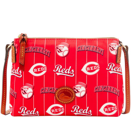 Dooney & Bourke MLB Nylon Reds Crossbody Pouchette