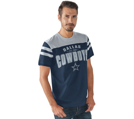 NFL Dallas Mens Throwback Short Sleeve Jersey Tee