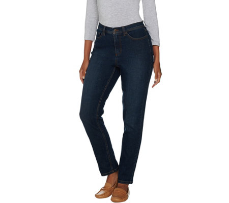 "Denim & Co. ""How Modern"" Stretch Denim Ankle Jeans"