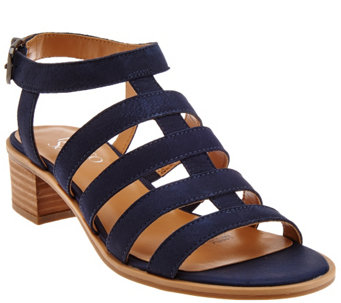 """As Is"" Franco Sarto Leather Multi-strap Sandals - Oriele - A284075"