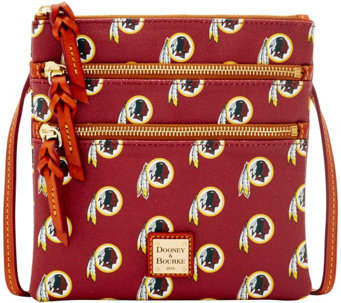 Dooney & Bourke NFL Redskins Triple Zip Crossbody - A285675