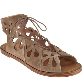 Sole Society Suede Lace-up Cut-out Sandals - Lylia