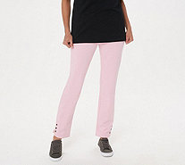 Quacker Factory DreamJeannes Pull-On Regular Ankle Pants with Grommets - A287475