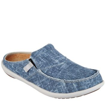 Spenco Orthotic Chambray Mules with Goring - Chambray Slide
