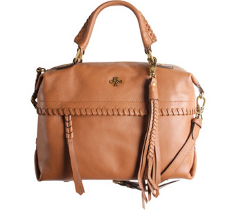 """As Is"" orYANY Pebble Leather Convertible Satchel - Toni - A289075"