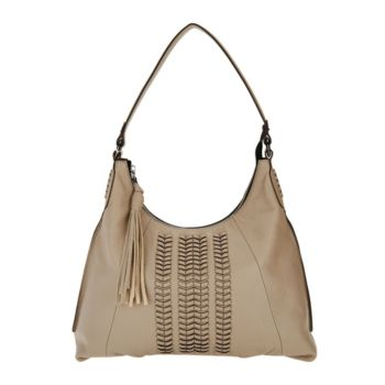orYANY Pebble Leather Hobo Bag w/ Braided Detail - Alli