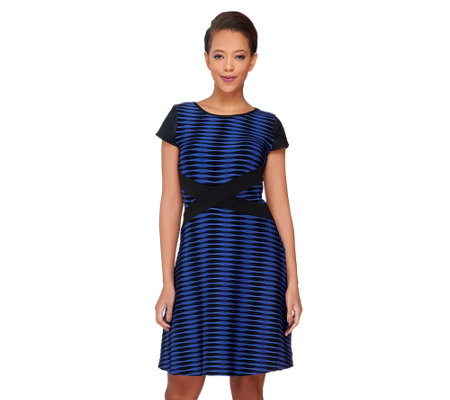 """As Is"" SA by Seth Aaron Petite Knit Striped Dress"