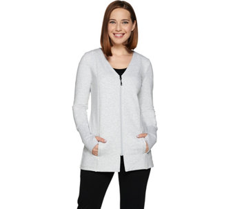 """As Is"" cee bee CHERYL BURKE French Terry Zip Up Jacket - A291375"