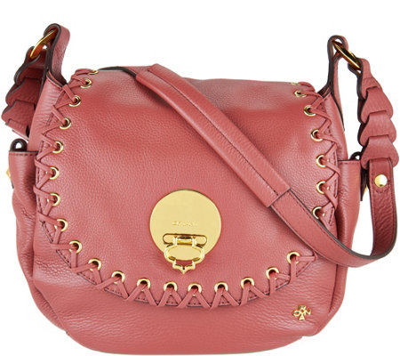 orYANY Pebble Leather Saddle Bag- Evelyn