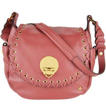 orYANY Pebble Leather Saddle Bag- Evelyn