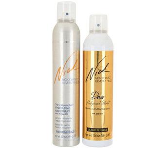 Nick Chavez ThirstQuencher Hairspray & Diva Shine Spray Duo - A295075