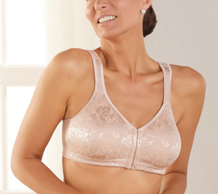 Breezies Shimmer Floral Unlined Front Close Bra