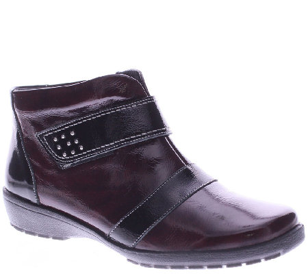Spring Step Leather Ankle Boots with Lug Outsole - Bann