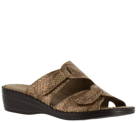 Easy Street Wedge Slide Sandals - Joelle
