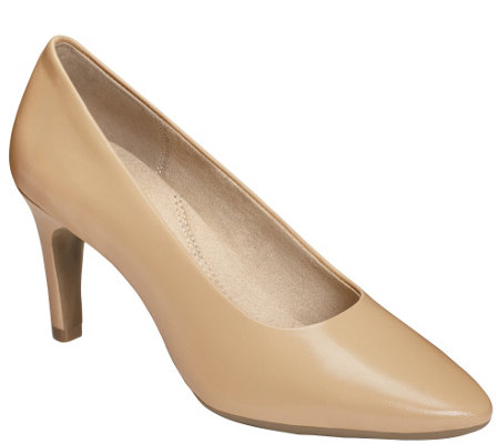 Aerosoles Heel Rest Leather Pumps - Exquisite