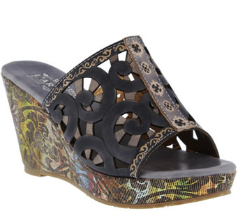 Spring Step L'Artiste Wedge Slide Sandals - Zoe - A340775