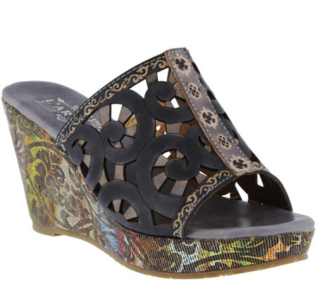 Spring Step L'Artiste Wedge Slide Sandals - Zoe