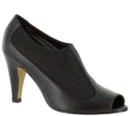 Bella Vita Leather Peep-toe Pumps - Ninette