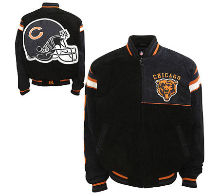 NFL Chicago Bears Genuine Suede Leather Jacket