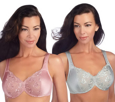 Breezies Set of 2 Lace Eclipse Underwire Bras with UltimAir