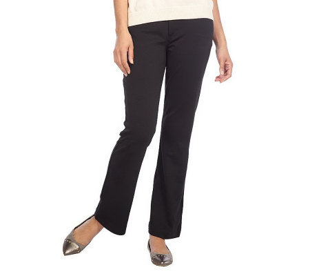 Isaac Mizrahi Live! Ponte Knit Five Pocket Bootcut Pants