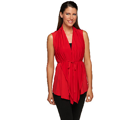 Joan Rivers 4-in-1 Knit Vest with Removable Belt