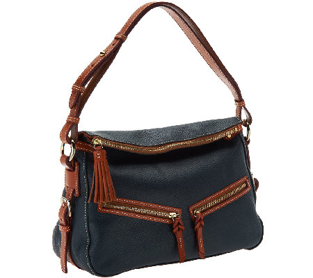 Dooney & Bourke Pebble Leather E/W Zip Sac Hobo