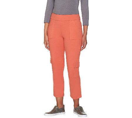 Women with Control Petite Cropped Cargo Pants
