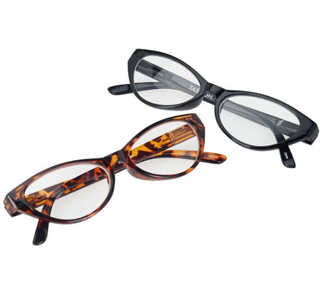 Tashon Progressive Cat Eye Readers Set of 2 Strength 3.0